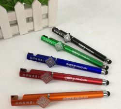 3 em 1 Bola caneta de Toque Multifuncional com suporte por telefone