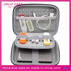 Schwarze lederne 2.5inch HDD wasserdichte EVA Elektronik PU-tragen Kasten