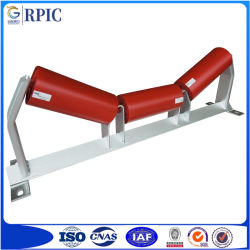 Trasportatore a nastro standard in acciaio con ritorno/trasporto/trasportatore/conca/rullo tenditore a trogolo per attività minerarie