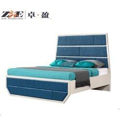 Auto-Bett moderne Hauptdes möbel-schöne Speicher-Schaumgummi-Matratze-blaues Bett-Koje-König-Size