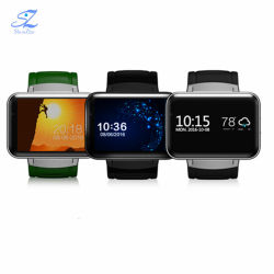 Dm98 Smart Watch Mtk6572 2.2 بوصة شاشة 900mAh بطارية 512 ميجابايت ذاكرة وصول عشوائي 4 جيجابايت نظام التشغيل Android 3G WCDMA GPS WiFi SmartWatch