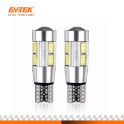 Alquiler de Auto LED T10 Canbus 194 W5W 10LED SMD 5630 Bombilla de luz LED de ningún error estacionamiento T10 LED luz lateral del coche