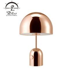 Projeto moderno de metal de cobre de LED Bell Hotel candeeiro de mesa
