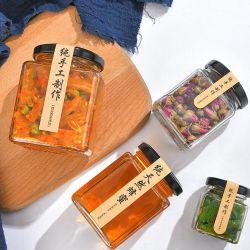 Pickle jarra de vidro seladas Jar Jar Mel Claro Ninho de Pássaro da geleia Jar Chilli Pickle Jar jarra de vidro em Conserva