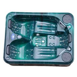 Acrylique verte jupe en PVC/couvercle de l'escalier Spa salle de bain intérieure un bain à remous Jacuzzi gonflable baignoires de gros (KGT-JCS-33)