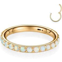 Vente chaude 316L Bijoux en acier inoxydable chirurgical piercings nez de segment de l'anneau articulé Clicker