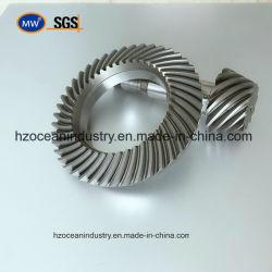 Une haute précision de petits engrenages coniques en spirale