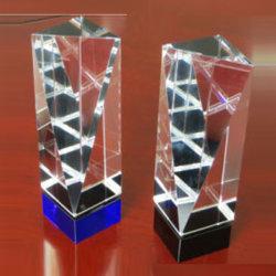 Новый американский дизайн трофей хрустальное стекло Даймонд Trophy-Blue базы
