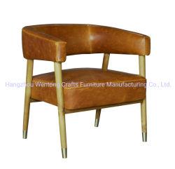 木製フレームの革Mordenの単一の余暇クラブたらいの椅子
