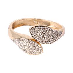 أزياء الذهب Plated Bangle مع أحجار الراين