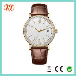 Mode classique Logo personnalisé nouveau style de dame en cuir de marque de quartz watch