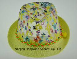 Chapeau de paille en polyester (HY17052635)