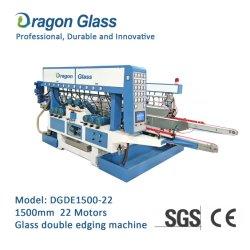 22 Spindle Motors PLC الزجاج الأفقي مزدوج السحب و آلة معالجة التلميع بالطحن