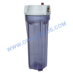Transparant filterhuis met binnendraad en luchtontgrendelknop
