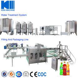 ماكينة صناعة المشروبات الغازية الأوتوماتيكية وحشوة التعبئة