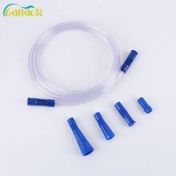 La aprobación de ISO y CE médicos desechables, conectar el tubo de aspiración con mango de Yankauer