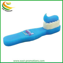 ビジネスギフトのための歯ブラシの形のプラスチックフラッシュメモリディスクの漫画 USB の運転者