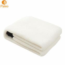 Motif jacquard coton Tricot New Born Baby Blanket Textile pour bébé