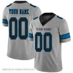 Venda por grosso de vestuário com Novo Design de Desconto Personalizado Prata veste camisas de futebol invertida