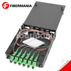 Montaje en pared de una calidad superior del módulo de empalme de 6 puertos de fibra óptica Patch Panel