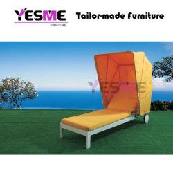 Алюминий Sun шезлонгами и лежаками для загара в курортном стиле, большой балкон сад открытый шезлонгами гостиная с навесом