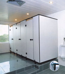 Fumeihua minusválidos wc de la puerta de la partición de compacto HPL