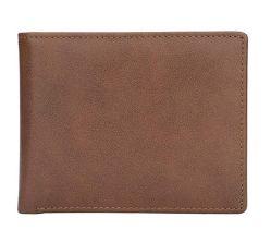 Les hommes -Blocage RFID en cuir véritable Bilfold élégant Wallet