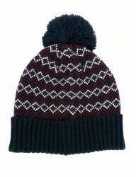 رجال شتاء نمط دافئ يحبك جاكار قبعة غطاء