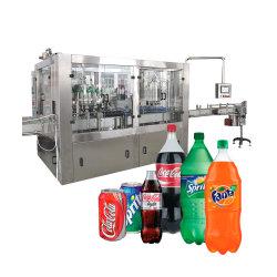 3 в 1 полностью автоматическая стеклянных бутылок из ПЭТ алюминия олово могут безалкогольный напиток производственной линии КУР газированные напитки соды и воды розлива наполнения машины