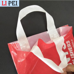 Биоразлагаемые мягкие ручки пластиковый пакет с Логотип Сувениры для одежды упаковка