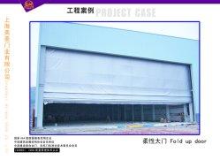 Industrial Electric PVC souple en tissu de la sécurité de l'aviation jusqu'porte du hangar de pliage automatique