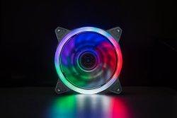 Для изготовителей оборудования компьютера вентилятор 120мм светодиод бесшумный вентилятор для компьютера случаях CPU охладители и радиаторов бесшумного, тройная упаковка разноцветных вентилятор, F03