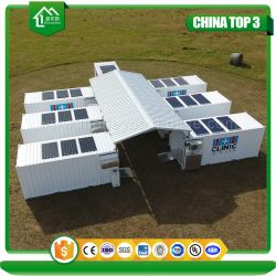 Combinaison d'expédition avancées Préfabriqué modulaire de camping de l'Armée conteneur clinique mobile