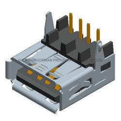 موصل سلك قابس مقبس شاحن USB AF 2.0 لتوصيل الهاتف المحمول