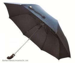"""25 """"明るいおよび雨のための曲げられたハンドルが付いているインチの自動車の開いた傘"""