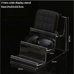 Пользовательские размеры Multi-Tiers шаг акриловый дисплей для установки в стойку для Wallet держатель солнцезащитного стекла