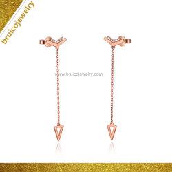 Jóias personalizadas prisioneiro do ouvido fashion 18K Rose Gold prisioneiro de jóias brinco com diamante