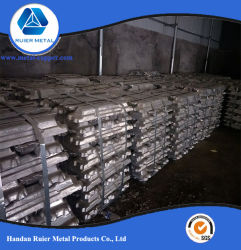 Venda directa de alta pureza 99,7% lingote de alumínio com a SGS Relatório