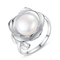 Букет роз форму Platinum позолоченные серебряные кольца жемчуга пресной воды