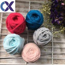Filato Fancy Crochet 100% Poliestere T-Shirt Filato Per Maglieria A Mano