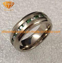 Het Huwelijk van het Titanium van de Ring van het Titanium van de Stenen van de Juwelen 30PCS van Shineme (TR1941)