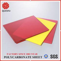 PC de alta calidad con protección UV Láminas de policarbonato sólido de color de efecto invernadero