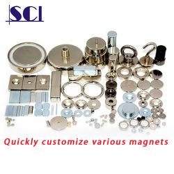 Kundenspezifischer super starker permanenter N35 N38 N40 N42 N45 N48 N52 Neodym-Magnet der seltenen Massen-für Industrie/Paket-Kasten/Spielzeug