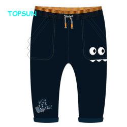 La máxima calidad de algodón personalizadas de los bebés varones emparejador Casual Pantalones Harén Cordón Pantalón con cintura