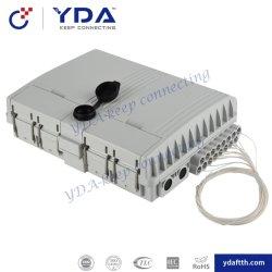 FTTH IP65 imprägniern 16 Kerne 1*4 1*8 1*16 PLC-Teiler-Faser-Optikplastikverteilerkasten Locable Safe-verbindenen aufspaltenverteilerkasten