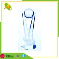 Trofeo d'ottone su ordinazione del premio di torneo della medaglia di oro della tazza della lega del peltro di cristallo di modo del mestiere del metallo del commercio all'ingrosso di promozione di modo per il regalo di evento del ricordo (026)