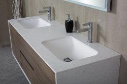 Fdm900*500*450mm 의 주문을 받아서 만들어진 내각 목욕탕 세면기 백색 인공적인 돌 수채