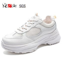 De vrouwelijke Stap van de Loopschoenen van het Vermageringsdieet van de Schoenen van de Geschiktheid van het Kussen van de Lucht Witte Comfortabele