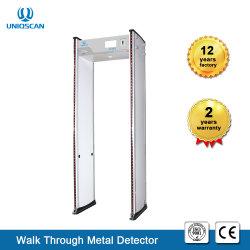 Promenade à travers la barrière de sécurité du détecteur de métal avec LED des deux côtés