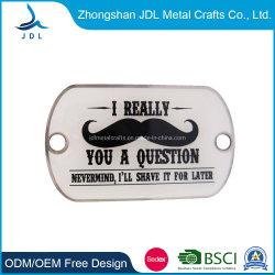 صنع في الصين المعادن المخصصة قطع بطاقة Xvideos الخاصة خدمة بلاك من الفولاذ المقاوم للصدأ علامة الكلب للرجال